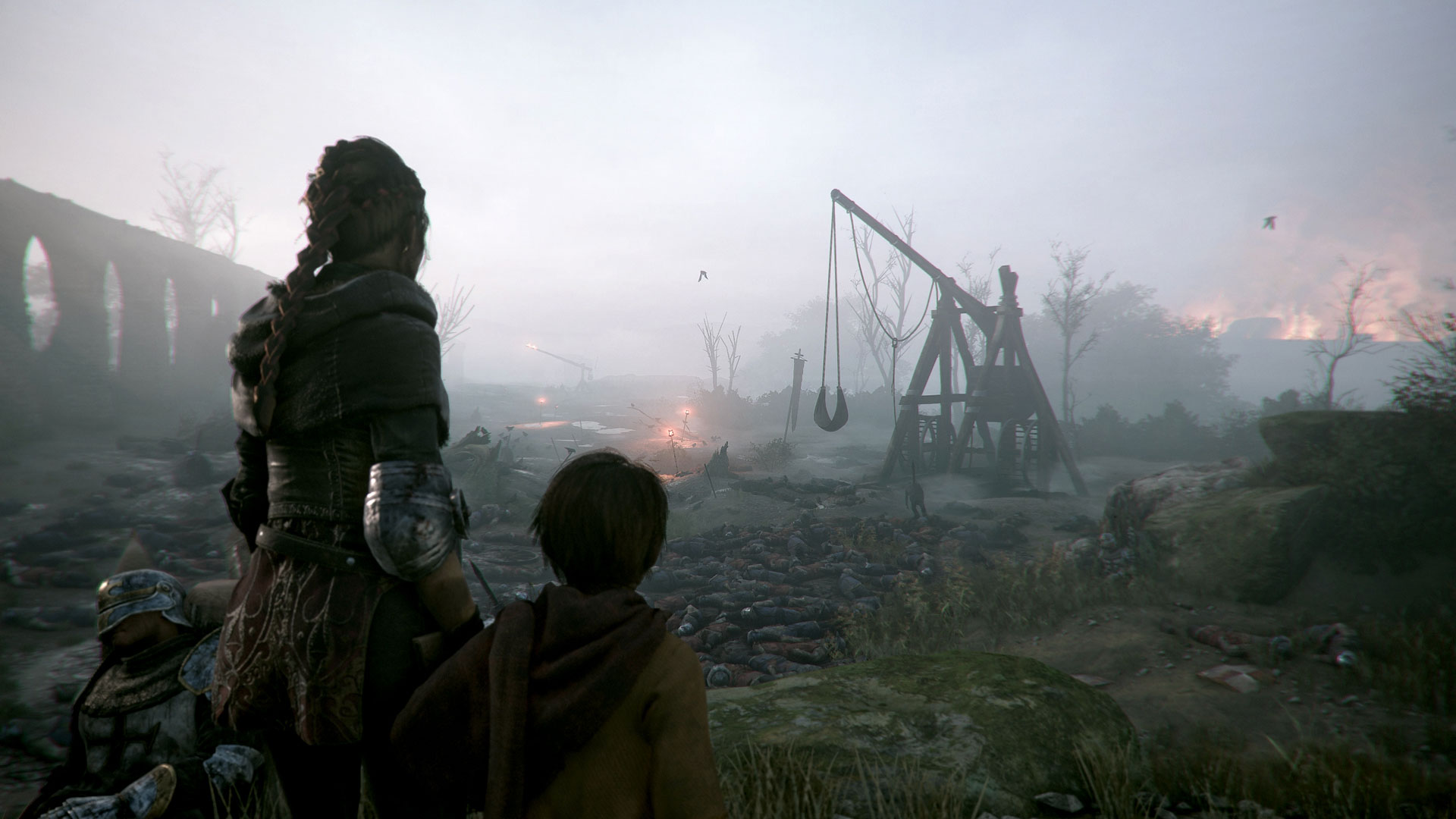 Piles of bodies in A Plague Tale: Innocence