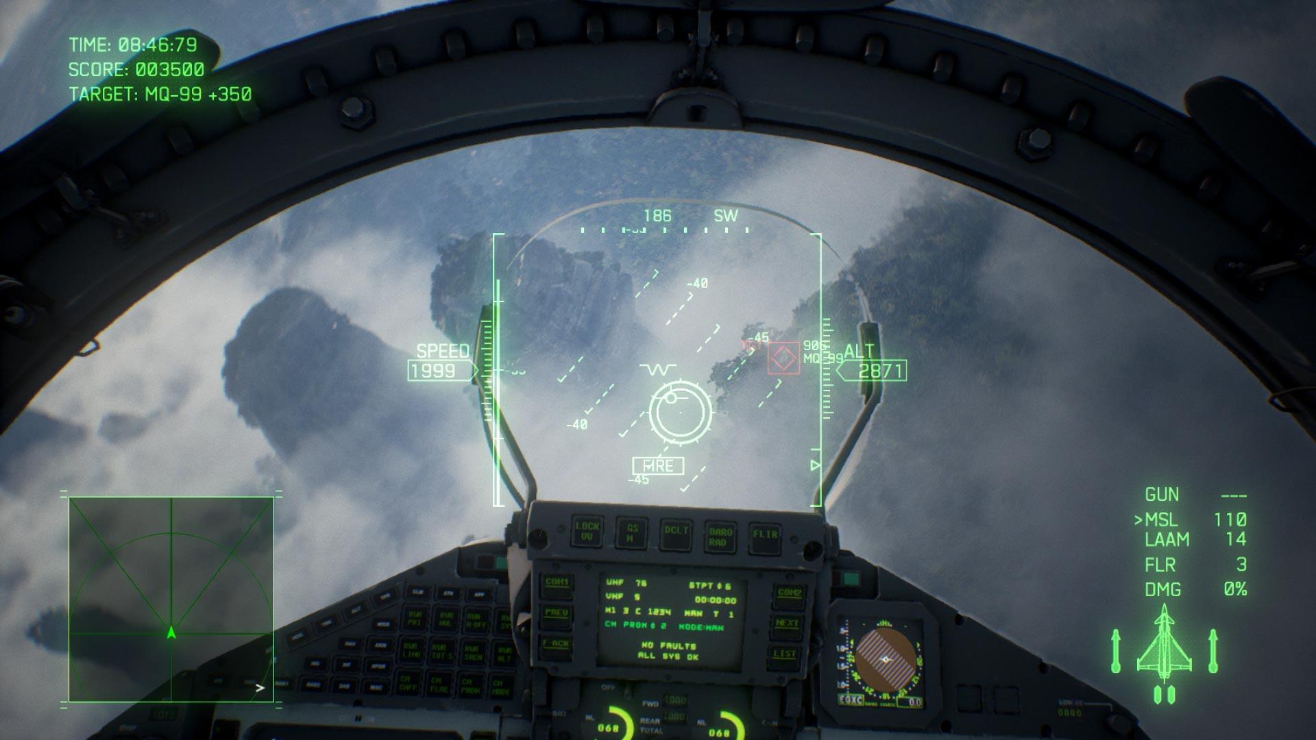 Ace Combat 7 jet interior
