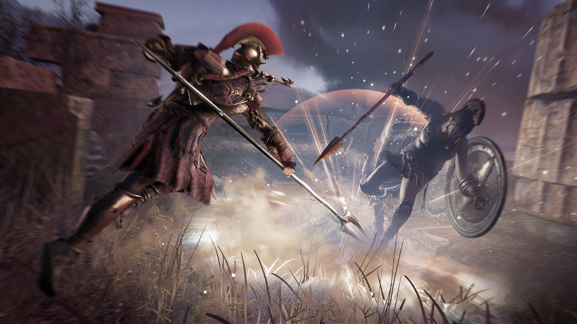 The combat system of Assassin's Creed Odyssey.