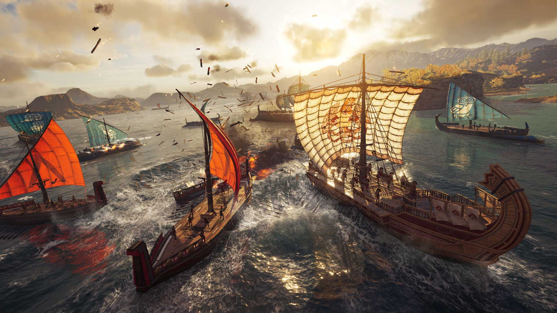 Naval battle in Assassin's Creed Odyssey.