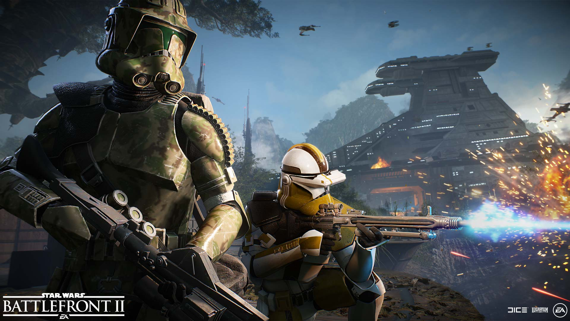 The two new clone soldier divisions available in the Elite Corps update.