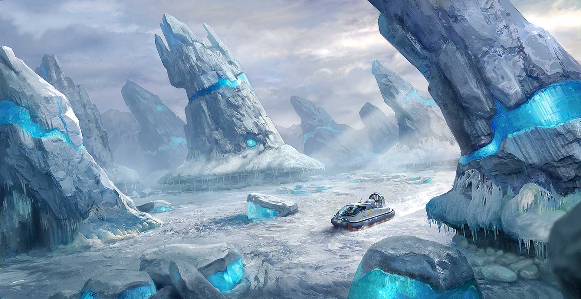Subnautica: Below Zero takes place in an arctic environment.