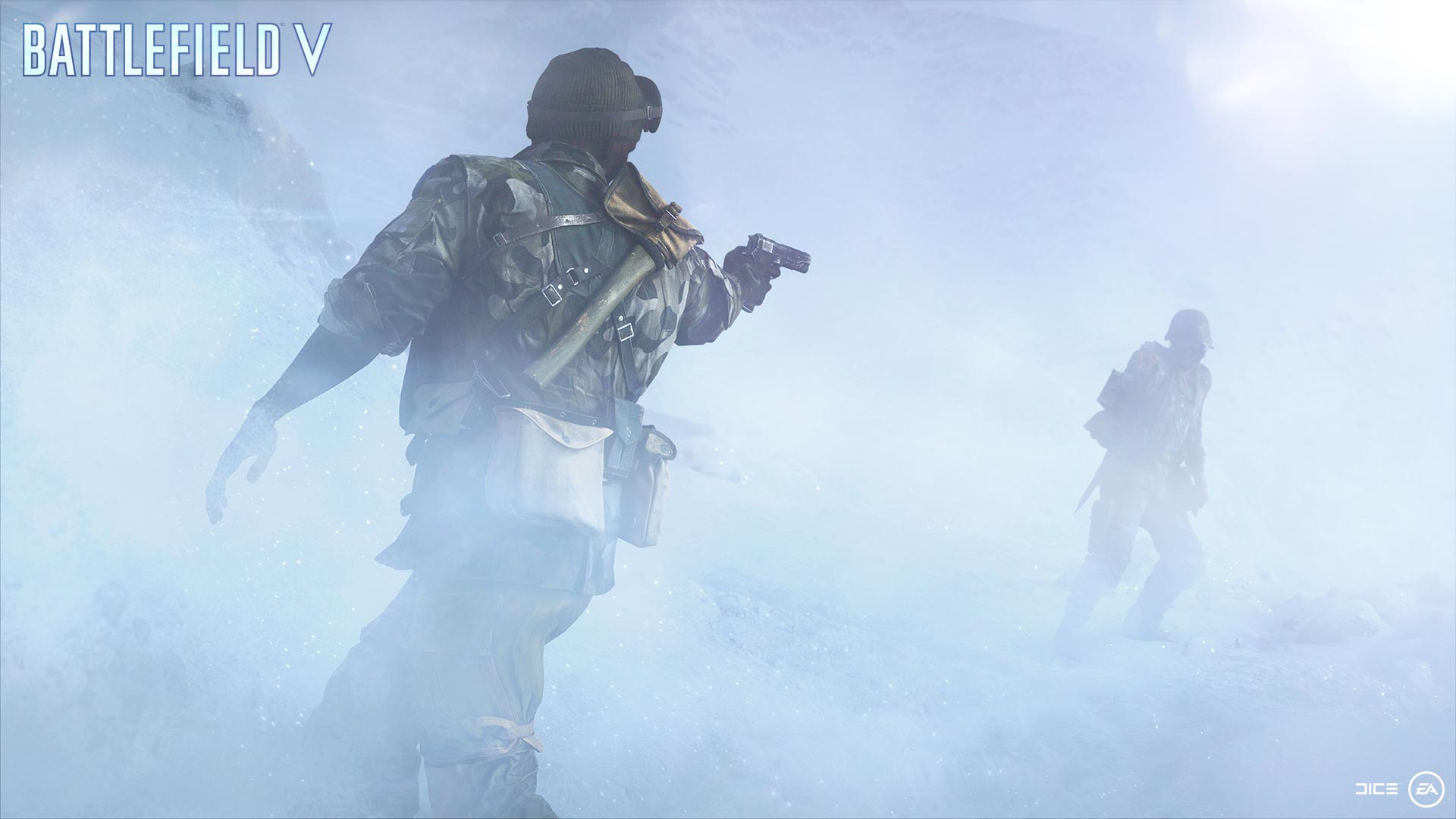 Battlefield 5 soldiers fighting in fog