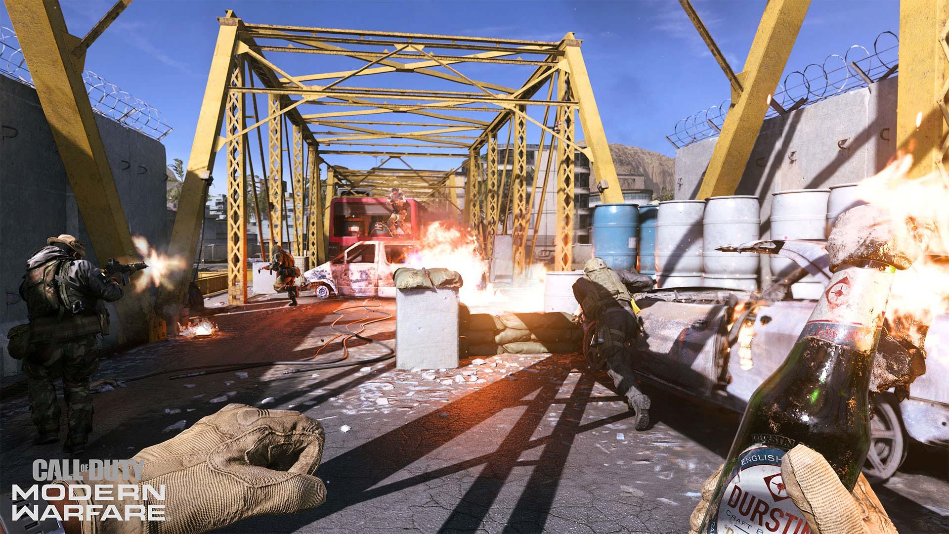 Call of Duty: Modern Warfare Molotov cocktail