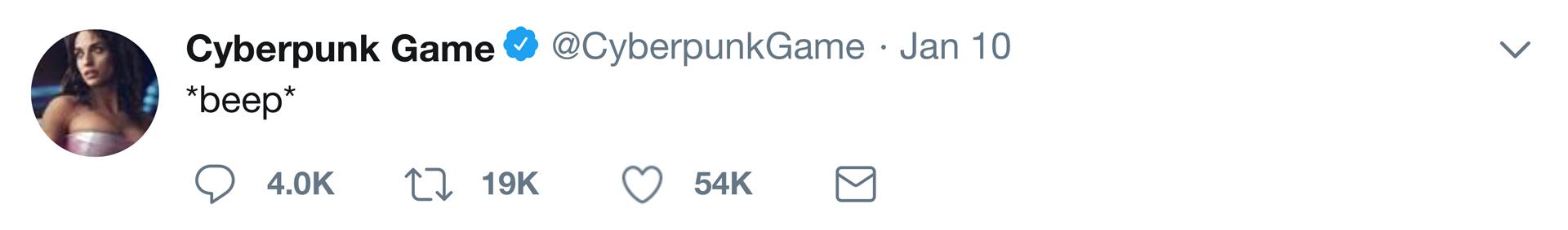 Cyberpunk Tweet