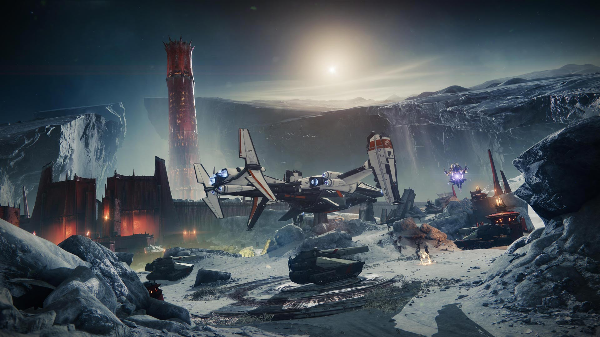Destiny 2: Shadowkeep base on the moon