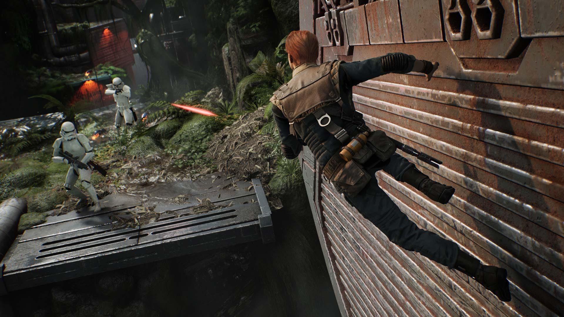 Star Wars: Jedi Fallen Order wallrun
