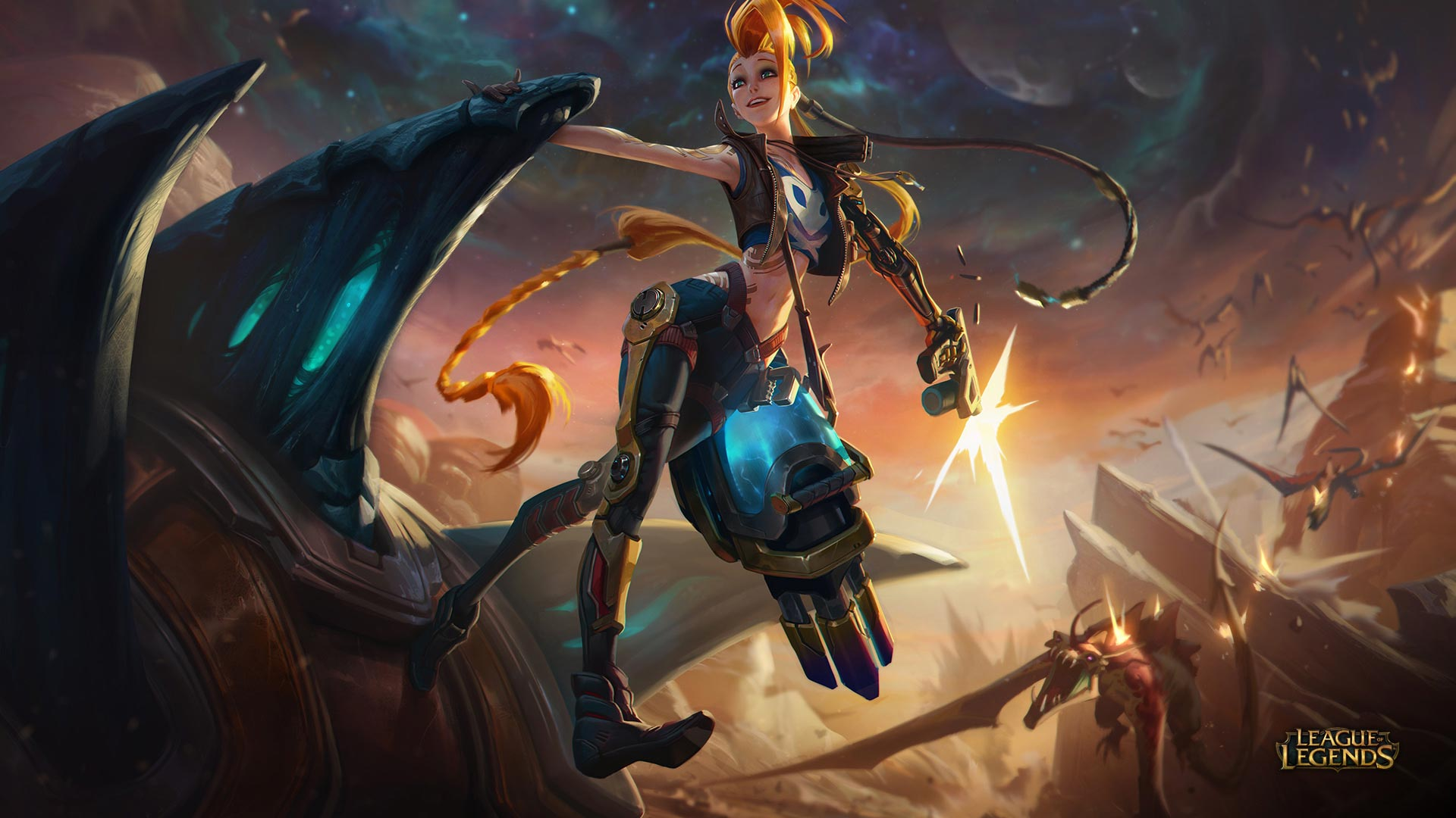 New skin for Jinx in League of Legends: Odyssey Extraction