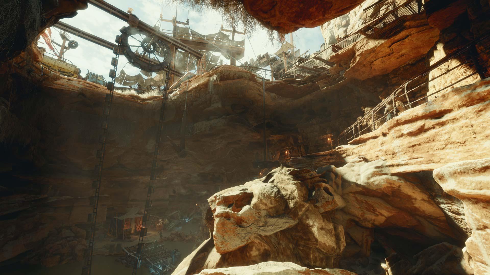 A cave in Metro: Exodus
