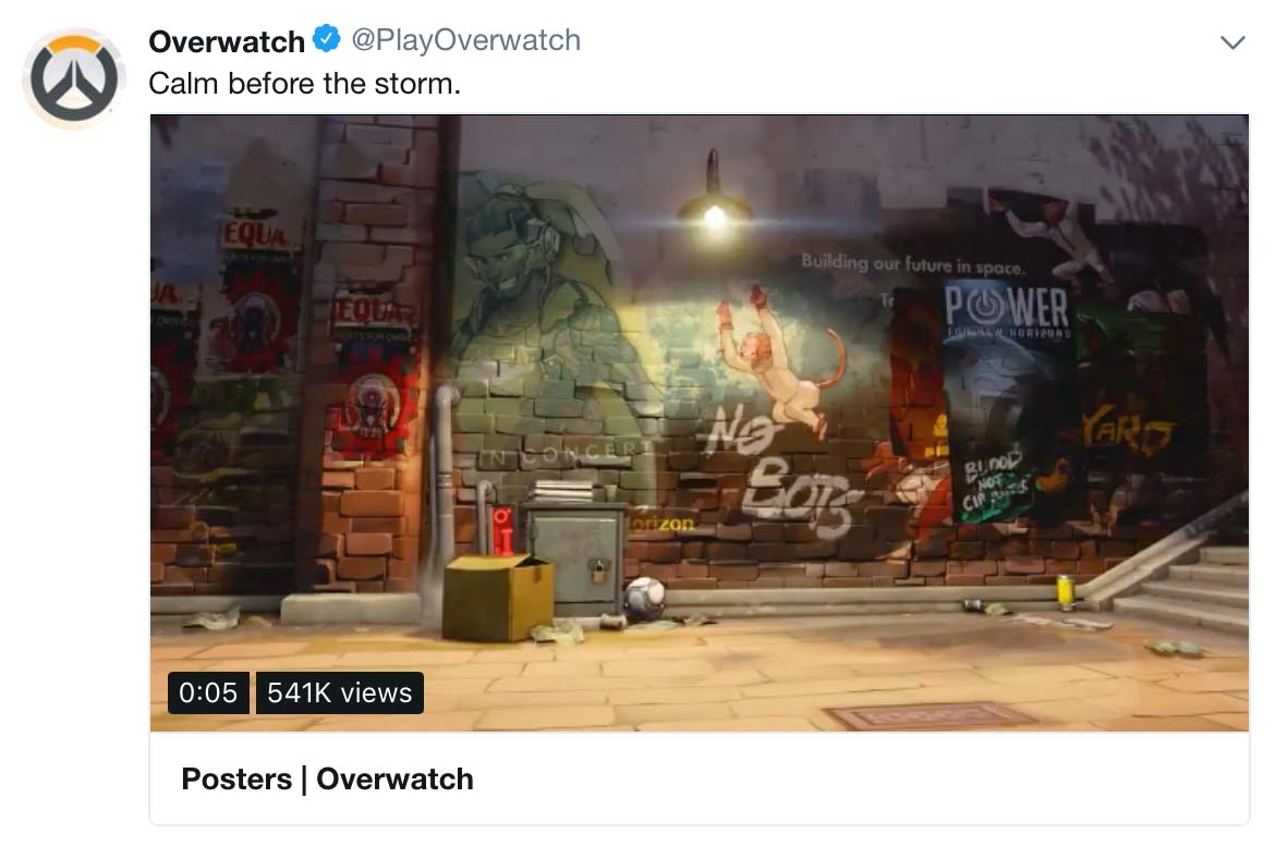 Overwatch teaser tweet, hero 28?
