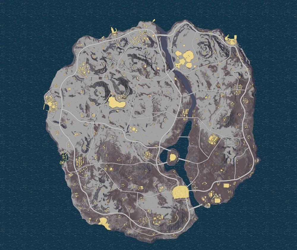 Playerunknown's Battlegrounds: Leaked photo of cities on Dihor Otok.
