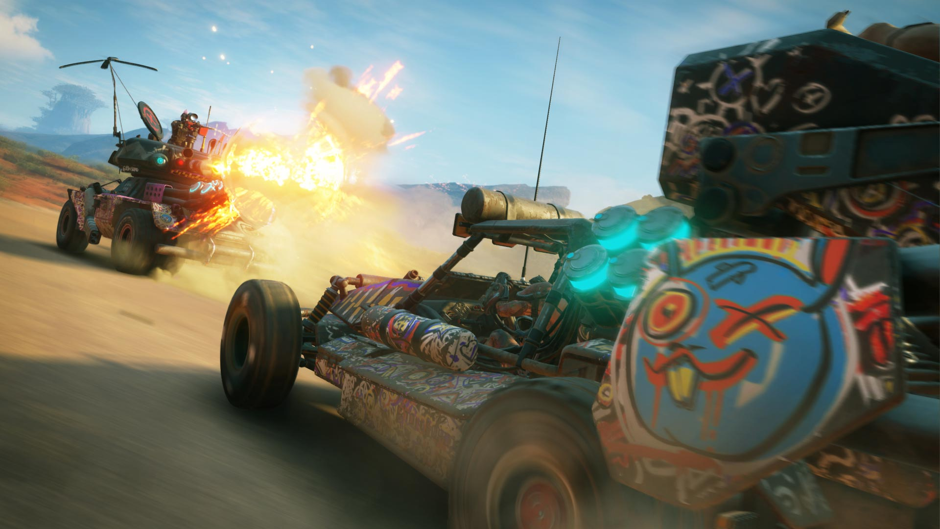 Vehicle combat in Rage 2