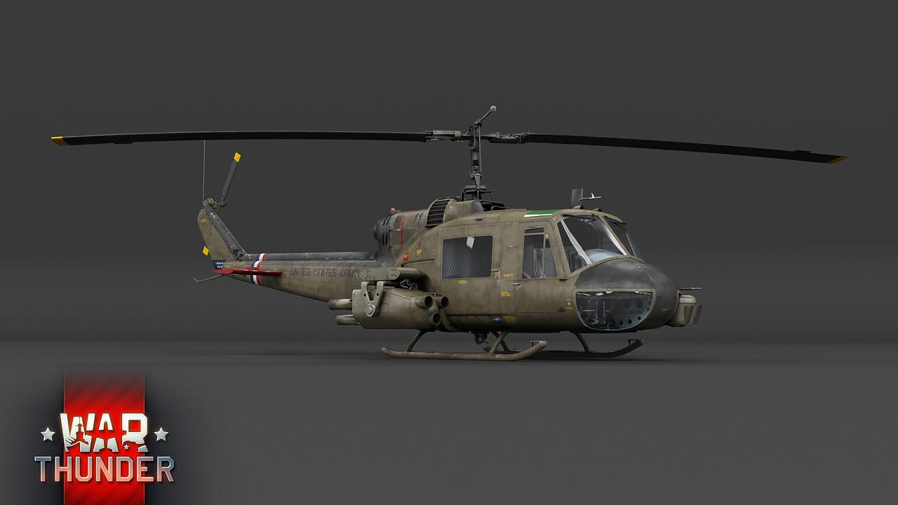3d model of UH-1C Helicopter.