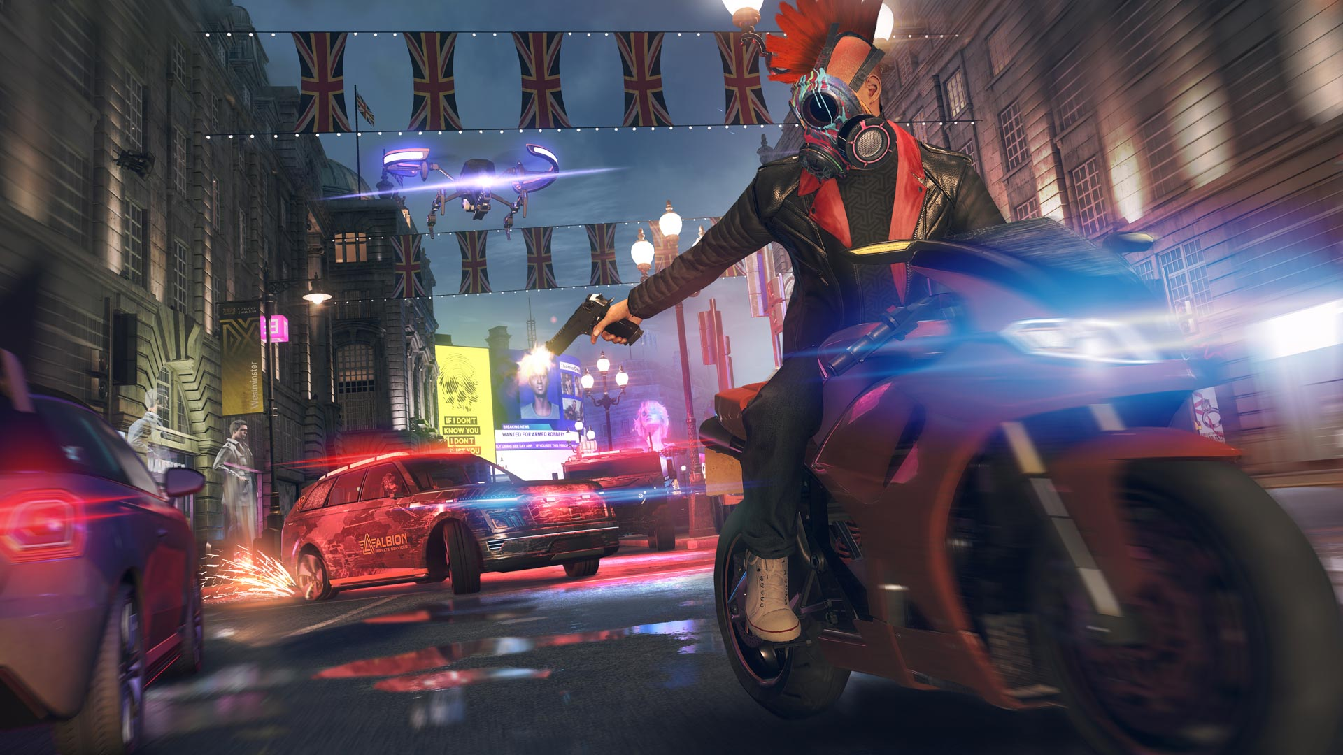 Watch Dogs Legion bike chase