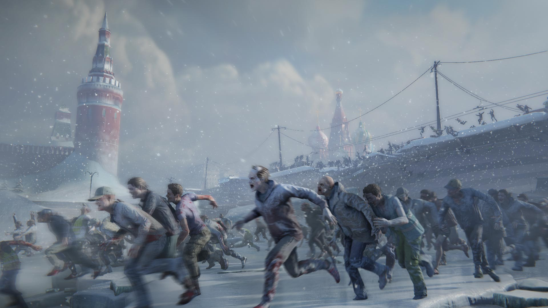 Zombies attacking in Moscow.
