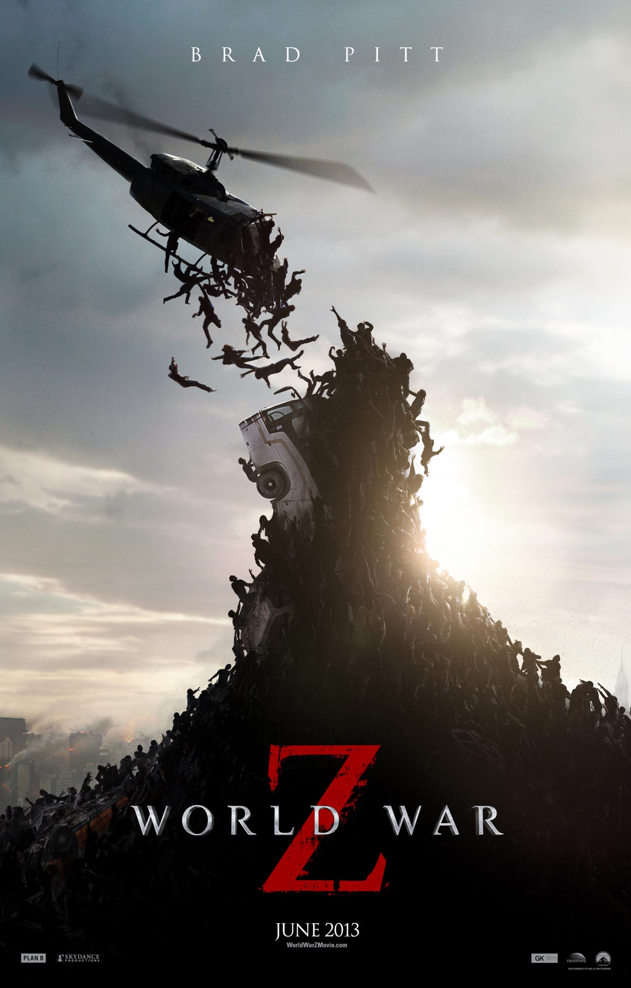 Poster of the World War Z movie released in 2013.