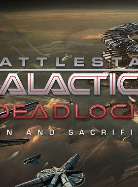 Battlestar Galactica Deadlock: Sin and Sacrifice Key Art