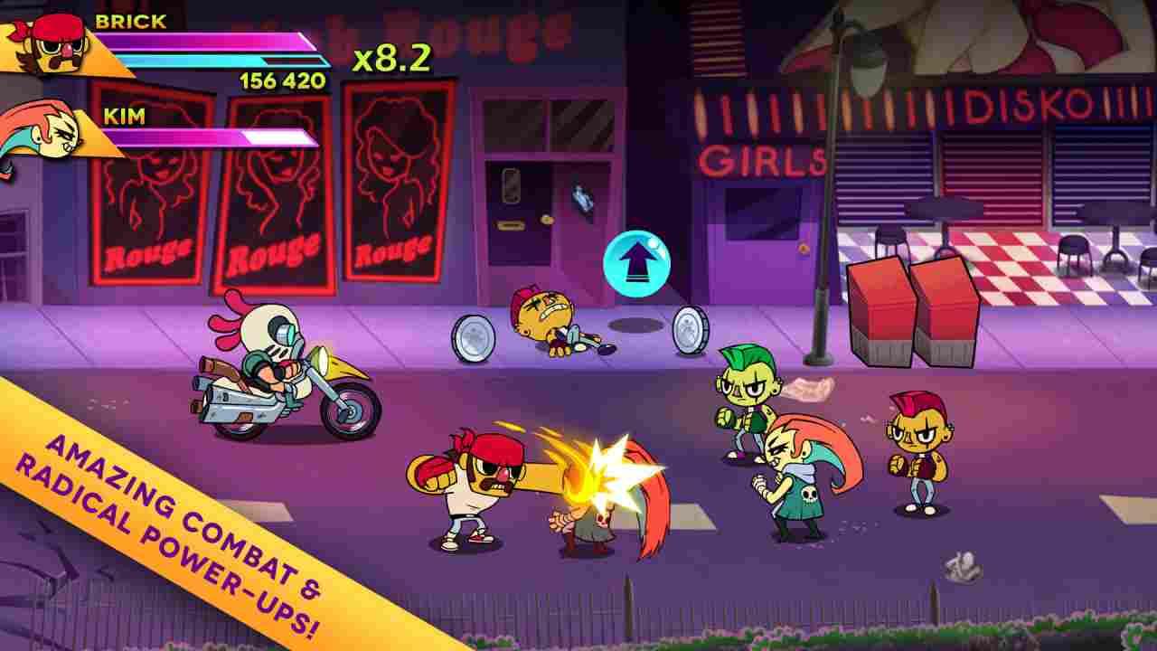 Big Action Mega Fight! Background Image