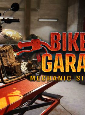 Biker Garage: Mechanic Simulator Key Art