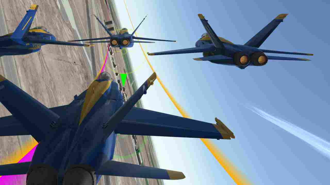 Blue Angels Aerobatic Flight Simulator Background Image