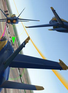 Blue Angels Aerobatic Flight Simulator Key Art