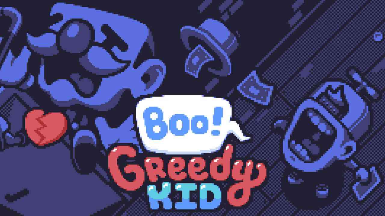 Boo! Greedy Kid Background Image