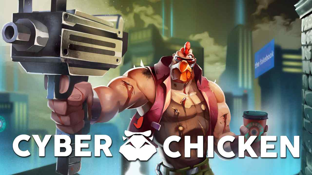 Cyber Chicken Background Image