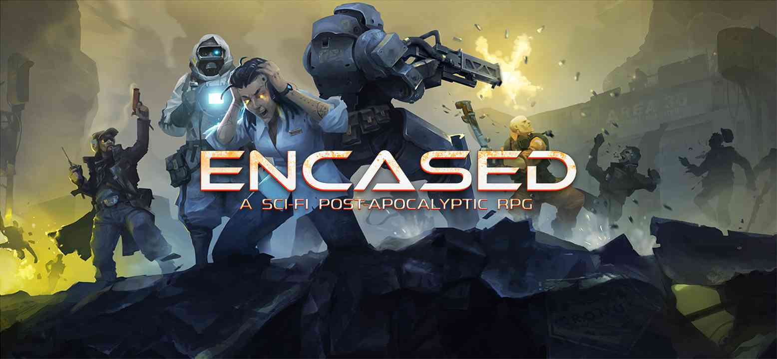 Encased: A Sci-Fi Post-Apocalyptic RPG Key Art