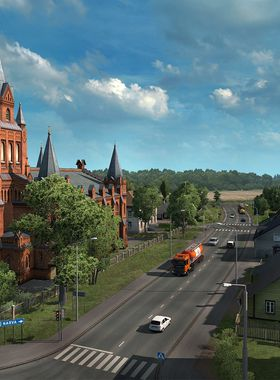 Euro Truck Simulator 2 - Beyond the Baltic Sea Key Art