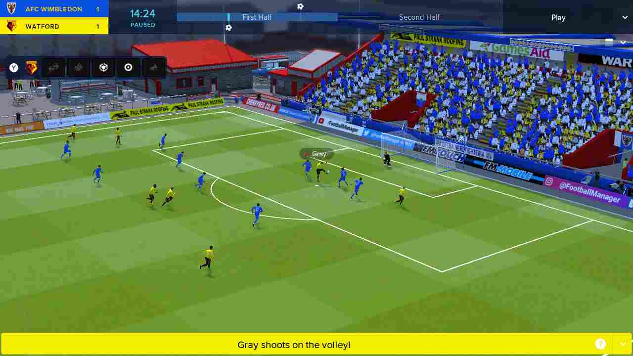 Football Manager Touch 2018 Background Image