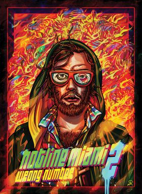Hotline Miami 2: Wrong Number Key Art