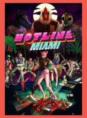 Hotline Miami Key Art
