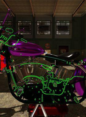 Motorbike Garage Mechanic Simulator Key Art