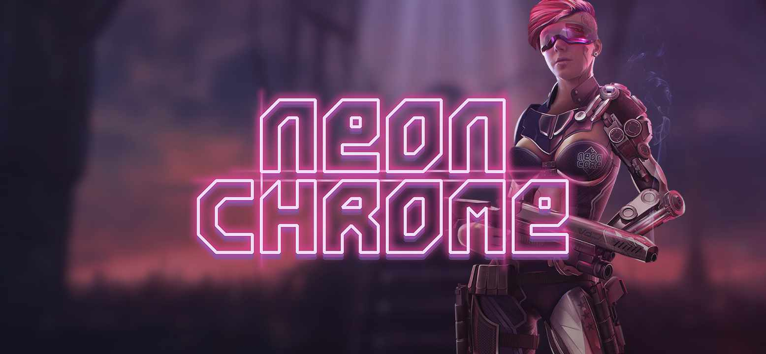 Neon Chrome Background Image