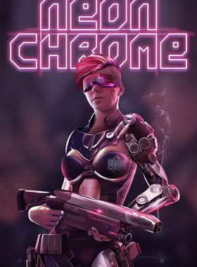 Neon Chrome Key Art