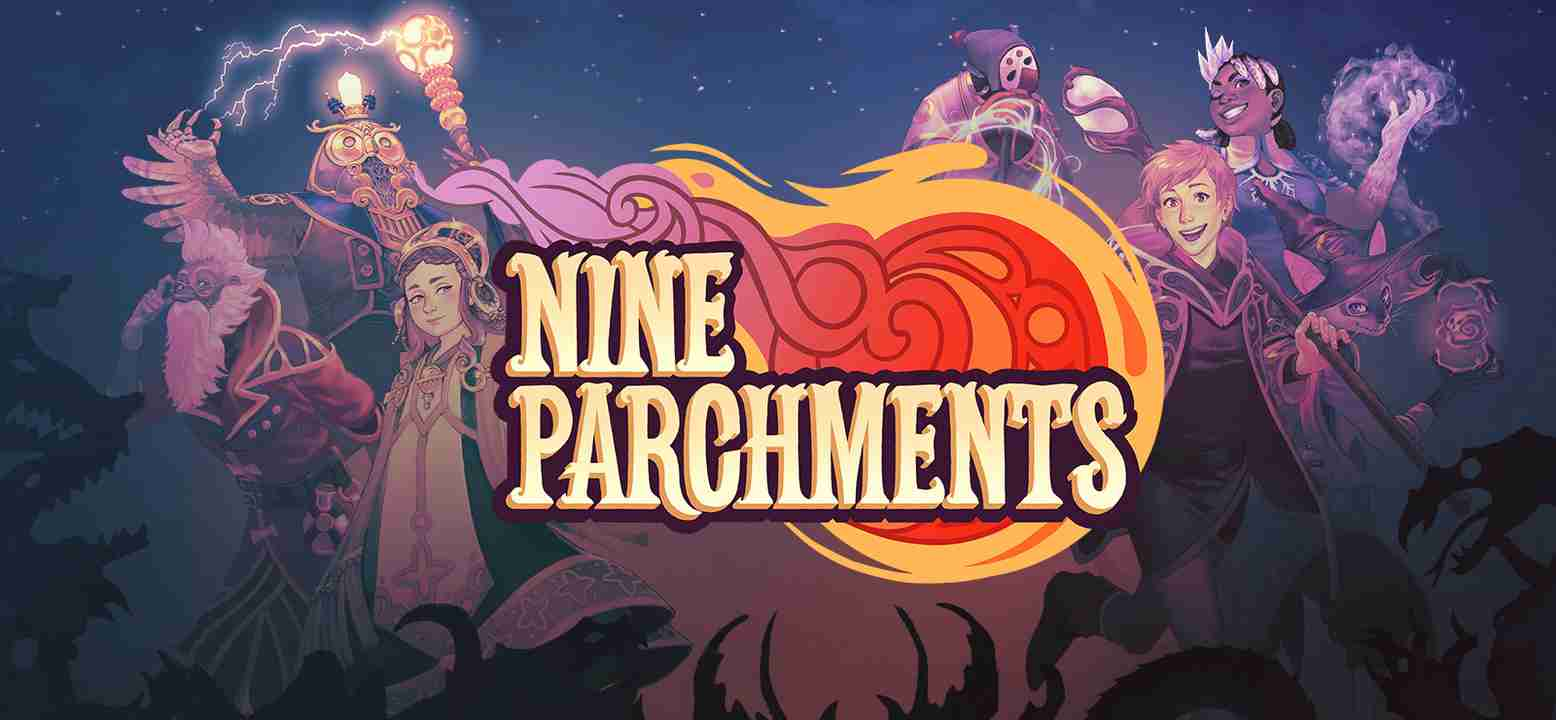 Nine Parchments Background Image