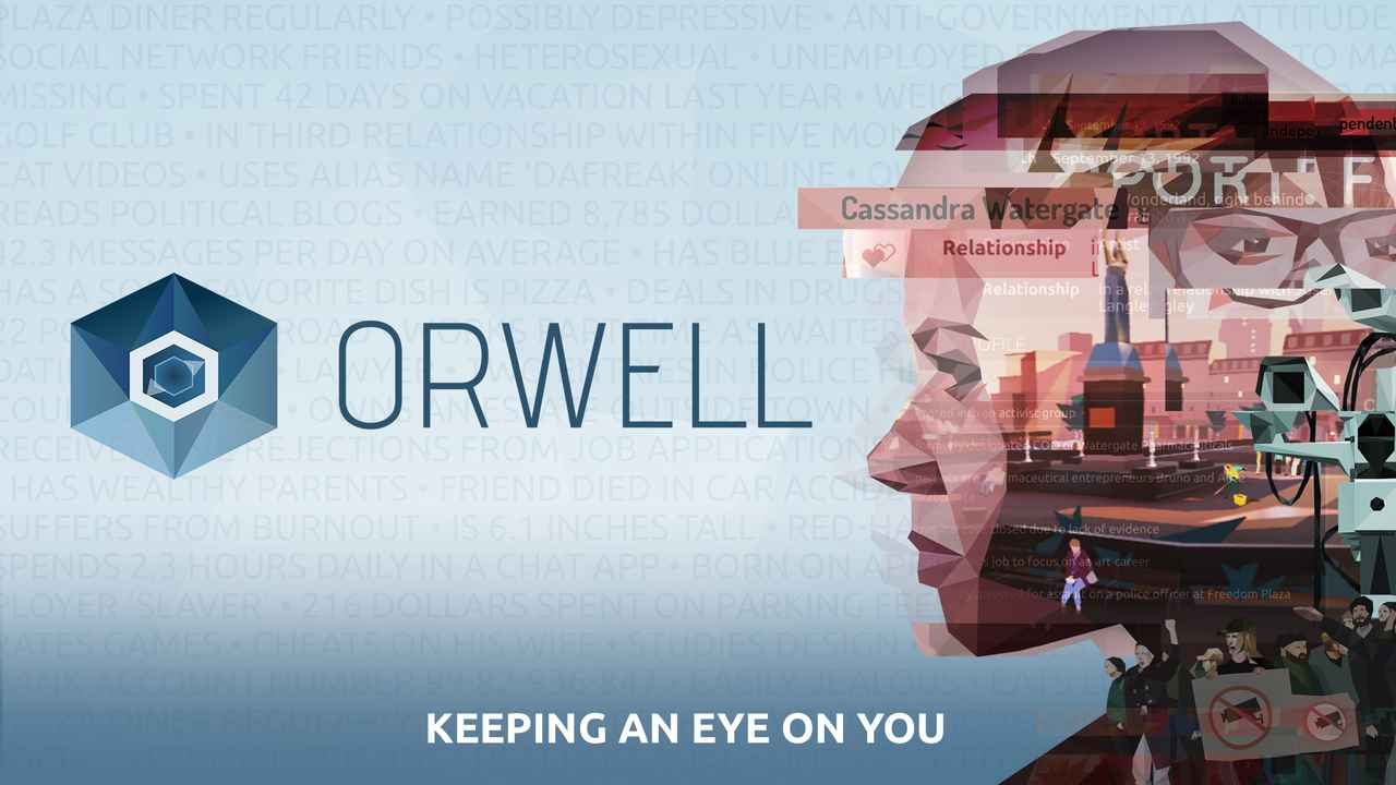 Orwell - Keeping an Eye on You Background Image