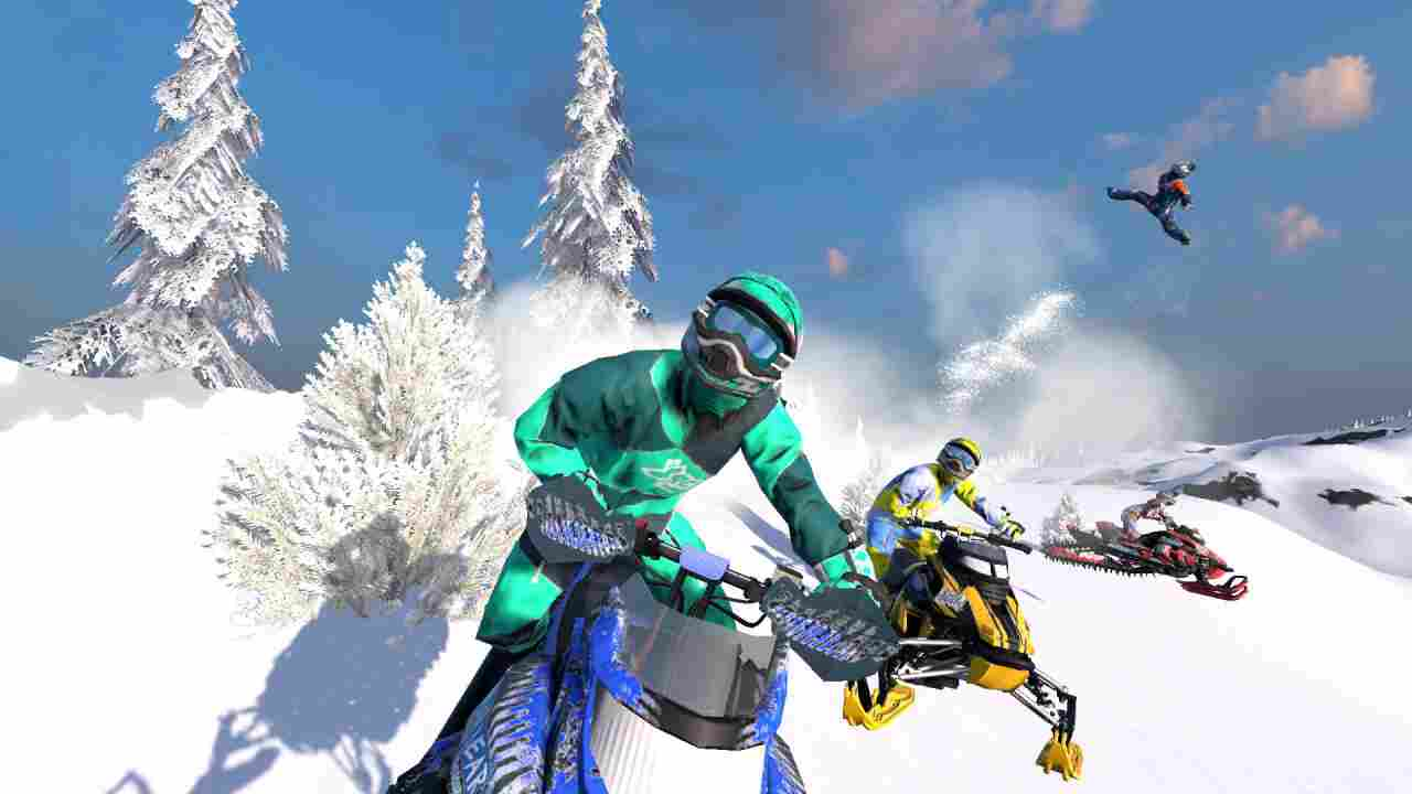 Snow Moto Racing Freedom Background Image