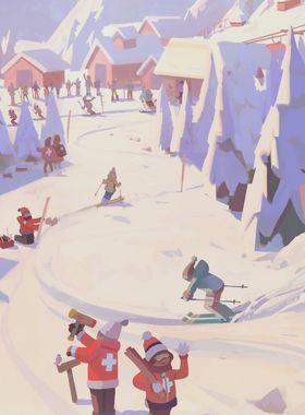 Snowtopia: Ski Resort Tycoon Key Art