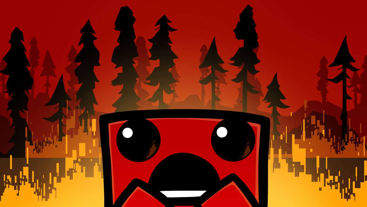 Super Meat Boy Background Image