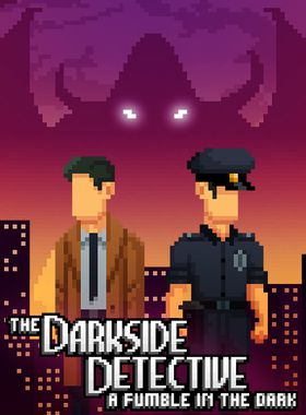 The Darkside Detective: A Fumble in the Dark Key Art