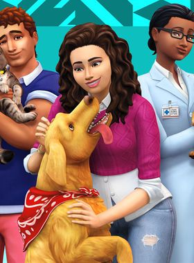 The Sims 4: Cats & Dogs Key Art