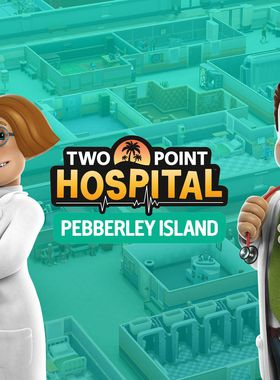 Two Point Hospital: Pebberley Island Key Art