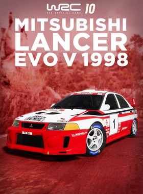 WRC 10 Mitsubishi Lancer Evo 5 1998 Key Art